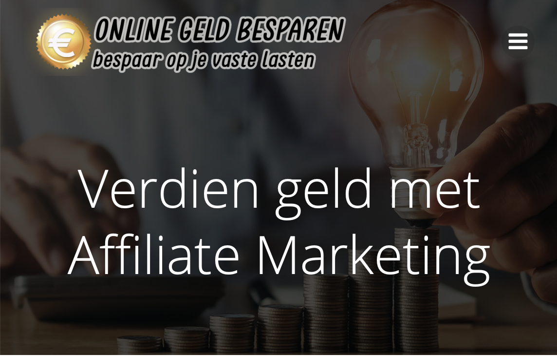 Verdien geld met Affiliate Marketing